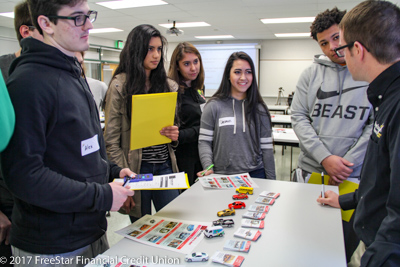 high school students learning budgeting
