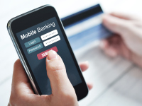 online banking on mobile phone