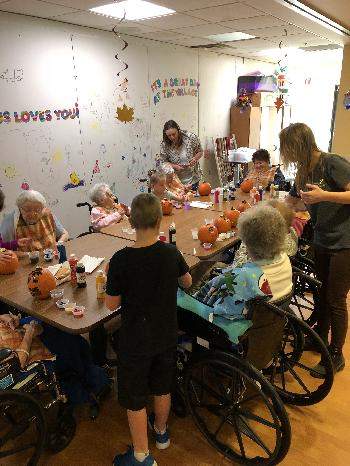 Village of East Harbor pumpkin painting